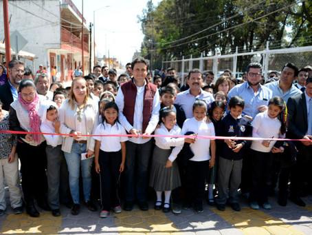 Inauguran reconstrucción de la Avenida Hidalgo en Cholula