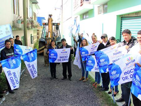 Emprende Ángel Flores tres obras en solo dos meses como alcalde de Xoxtla
