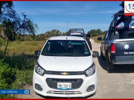 Recuperan en Quecholac vehículo robado en Tecamachalco