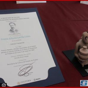 Recibe Puebla Premio Nacional Antonio García Cubas 2021 por publicación de libro del 5 de Mayo