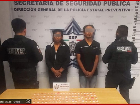 Captura Policía Estatal a dos presuntos narcomenudistas en San Andrés Cholula