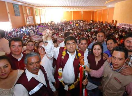 Con gobiernos progresistas Puebla alcanzará el beneficio social: Barbosa