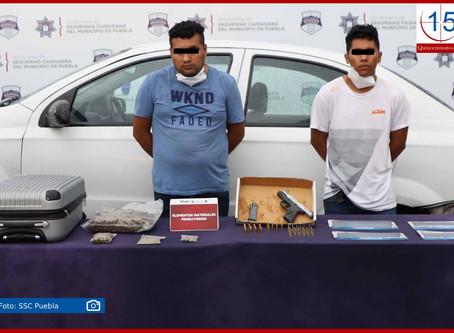 Caen dos con arma y drogas en Hacienda Santa Clara