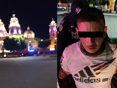 Balacera en pleno zócalo de Acatzingo, deja un detenido