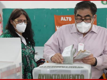 Llama Barbosa a poblanos a salir a votar: hagamos una jorna virtuosa