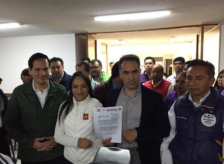Morena registra coalición con PT y PVEM