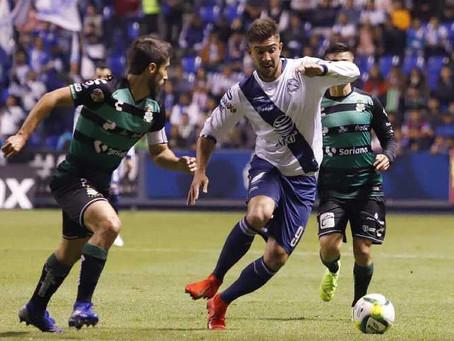 Puebla y Santos empatan a un gol en el Cuauhtémoc