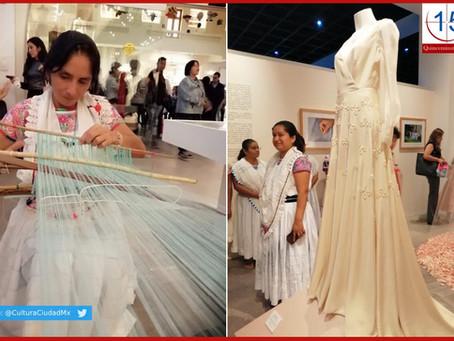 Crean vestidos de novia bordados por artesanas de Puebla