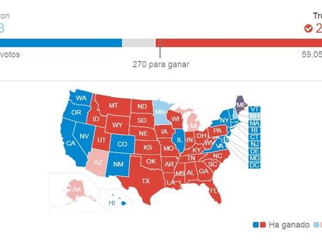 Viraje de EUA: Arrasa Trump en las elecciones presidenciales