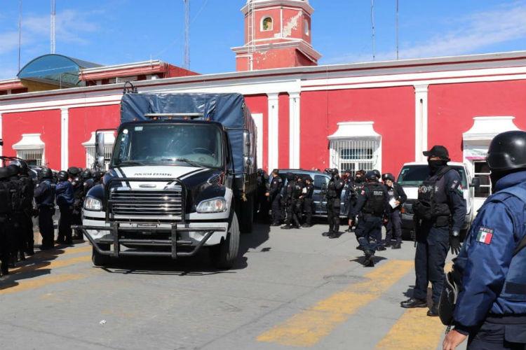 Operativo de la Policía Estatal en Ciudad Serdán.