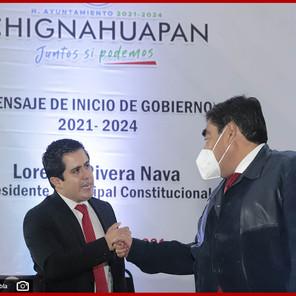 Seré un aliado del gobierno de Chignahuapan, afirma Barbosa Huerta