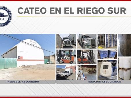 Catea FGE inmueble en El Riego Sur; halla camiones robados y mercancía