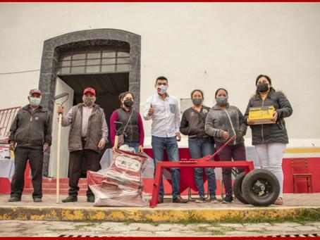 Arranca Alejandro Martínez con entrega de herramientas en Quecholac