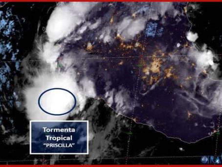 Nace tormenta tropical Priscilla