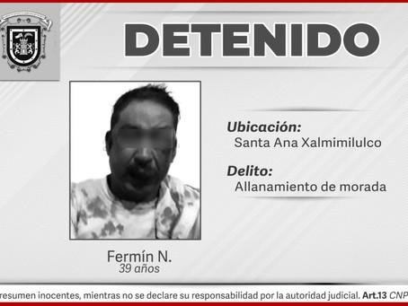Municipales frustran linchamiento en Santa Ana Xalmimilulco