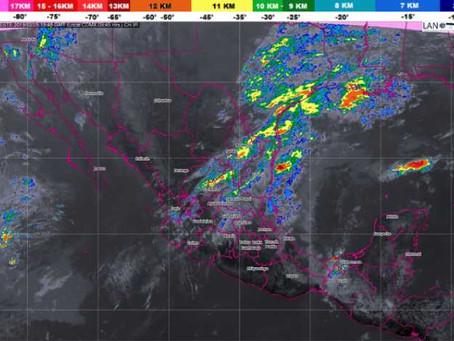 Se mantendrán lluvias en el centro, oriente y sureste del país