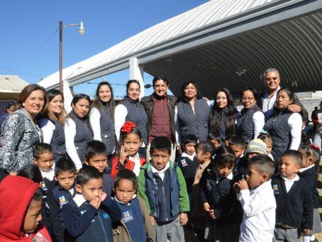 Inaugura edil de San Pedro Cholula un domo más en Cocoyotla