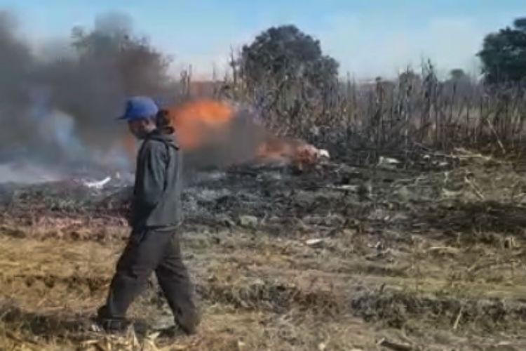 Accidente aéreo en Puebla