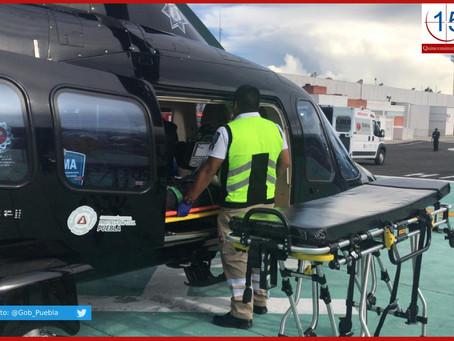 Helicópteros de Moreno Valle ahora son ambulancias y patrullas