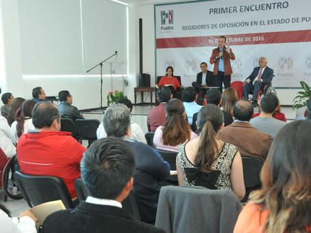 Desarrolla PRI encuentro de Regidores de Oposición en Puebla