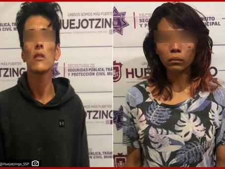 Municipales de Huejotzingo detienen a pareja que maltrataba a su hijo de 1 año