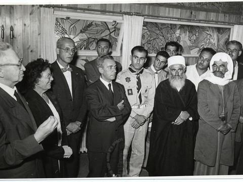 סוכות בצריף הנשיא יצחק בן-צבי ורחל ינאית