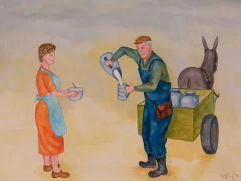 שביל החלב ברעננה - סיפורו של חלבן