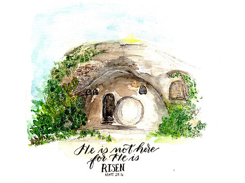 He is Risen -- The Open Tomb