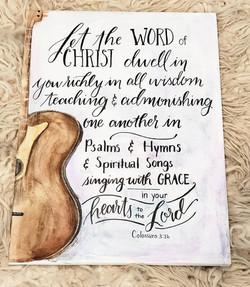 watercolor Colossians 3:16