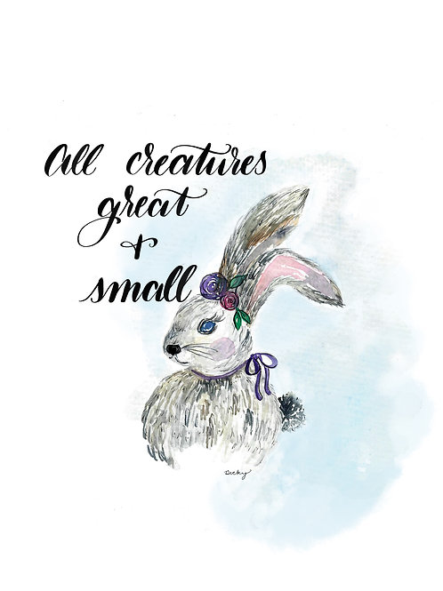 All Creatures Great And Small ~ Set of 4 Prints