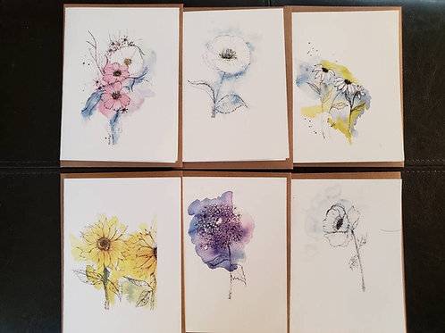 Abstract cards -- 6 count