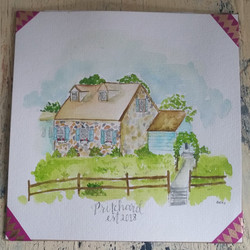 watercolor new house