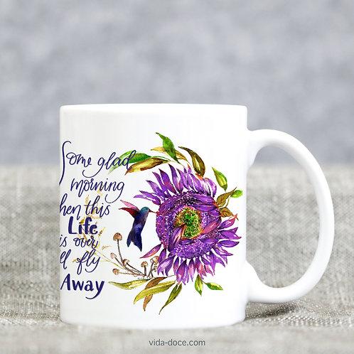 I'll Fly Away Mug --purple