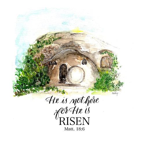 He is Risen -- The Open Tomb