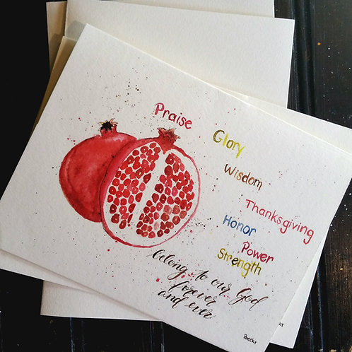 Watercolor verse cards -- 6 count