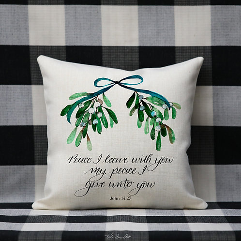 Peace I Leave with you --pillow cover (personalized)