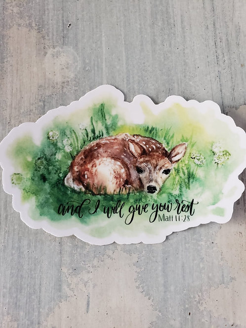 I will give you rest -- sticker