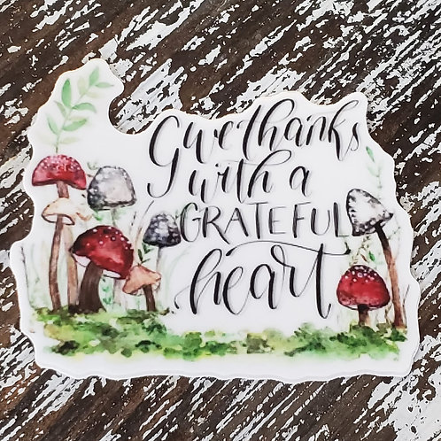 Give Thanks -- sticker