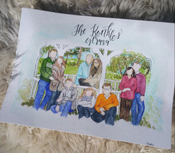 watercolor family