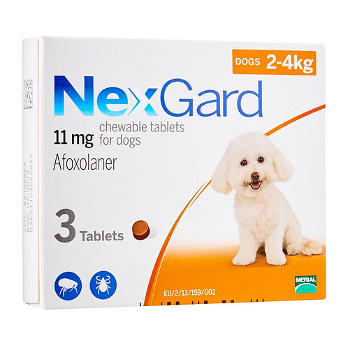 Nexguard Chewable Tabs (3s) 2-4kg