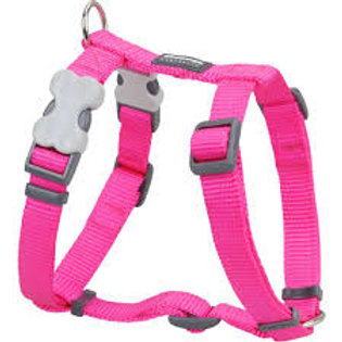 Red Dingo Classic Harness (20mm) - Hot Pink