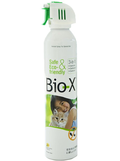 Bio X 3 in 1 Pet Safe Disinfectant/ Insecticide/Deodorizer Aerosol Spray (600ml)