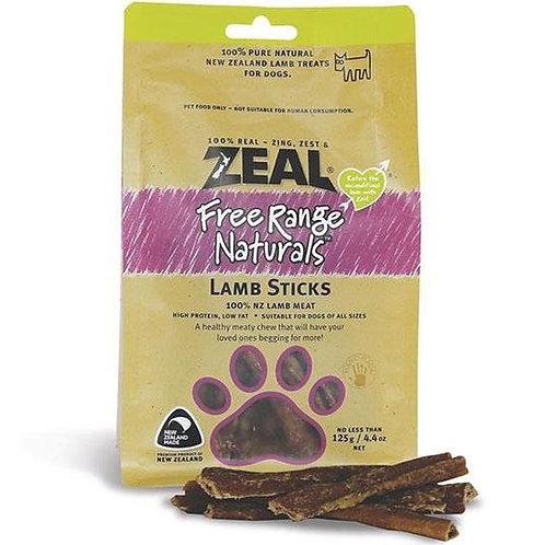 Zeal Free Range Natural Lamb Sticks 125g