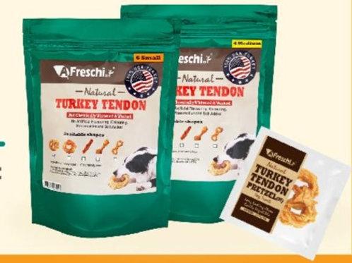 AFreschi Natural Turkey Tendon Pretzel (Small - 6 pcs / pack)
