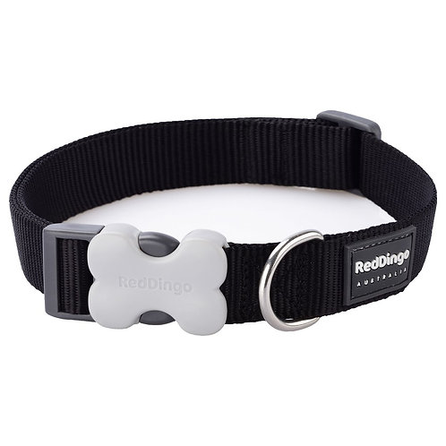 Red Dingo Classic Dog Collar 15mm (Black)