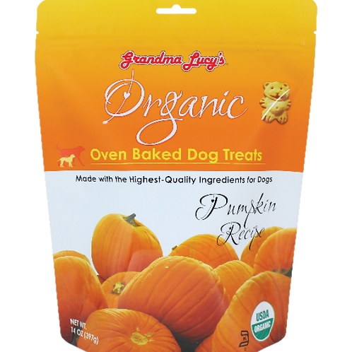 Grandma Lucy's Organic Oven Baked Dog Treats (Pumpkin) 14Oz