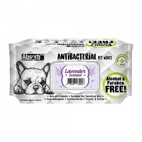Absorb Plus Antibacterial Pet Wipes 80pcs (Lavender)