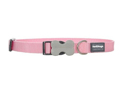 Red Dingo Classic Dog Collar 15mm (Pink)