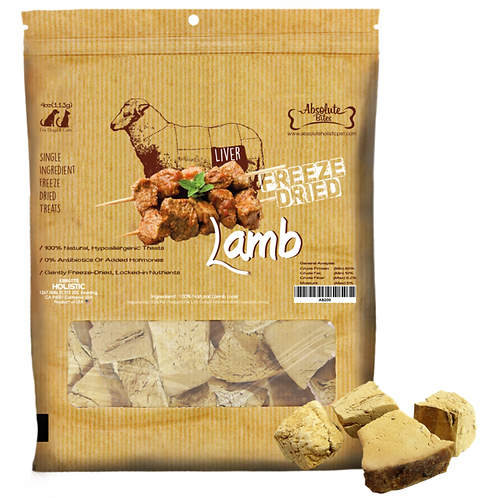 Absolute Bites Lamb Liver Freeze Dried (100g)