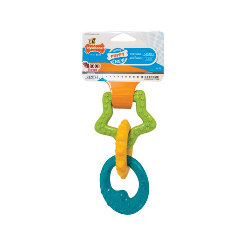 Nylabone Puppy Teething Ring (Bacon Flavour)